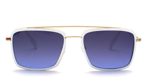 SIMPLE EYEWEAR JIM MAT GOLD WHITE